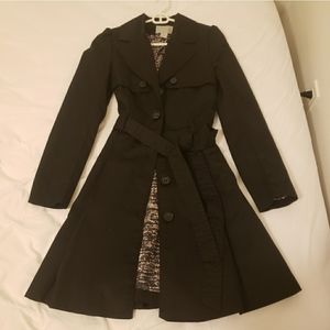 H&M Black trench coat with belt